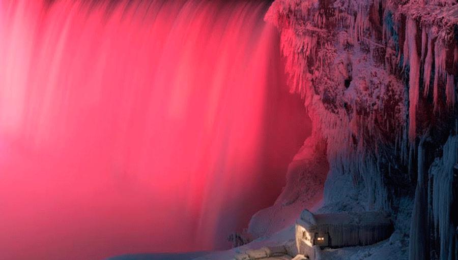 Fotógrafo capturó increíbles imágenes de las cataratas del Niágara a -20°C