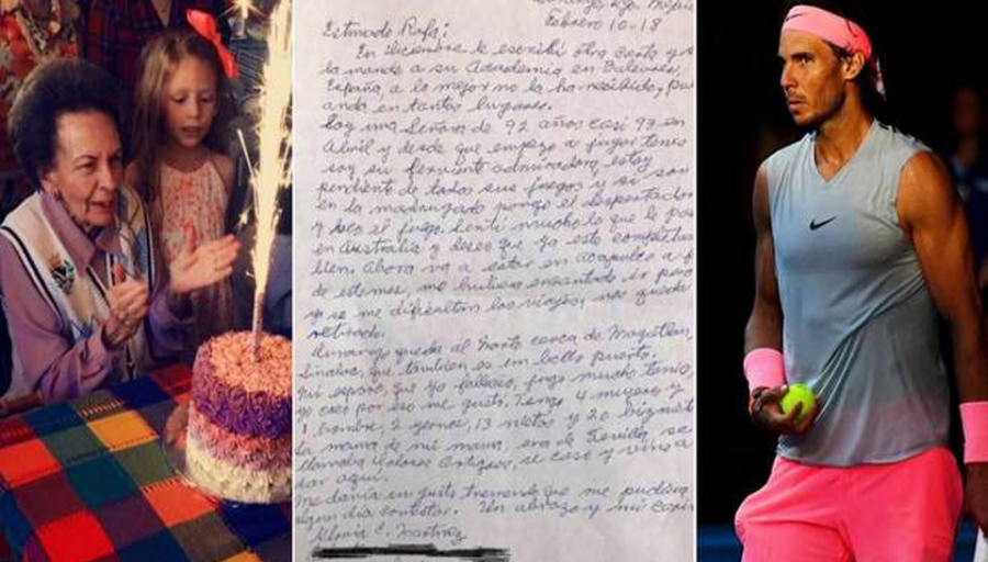 Abuelita le escribió cientos de cartas a Rafael Nadal sin tener respuesta, hasta que un día todo cambió