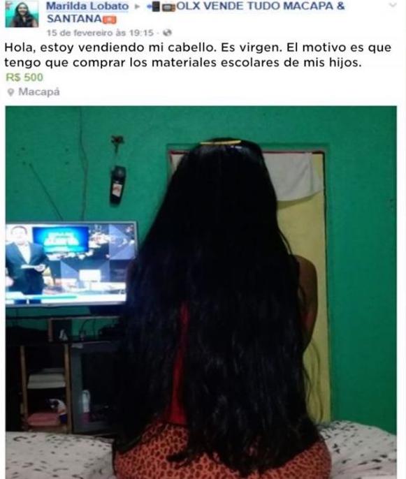 Mujer pone en venta su cabello en redes sociales y la razón conmueve a muchos