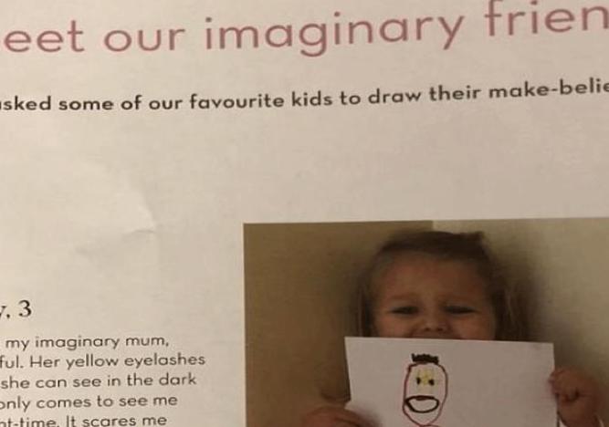Le piden a niña que dibuje a su 'amiga imaginaria' y el final es aterrador