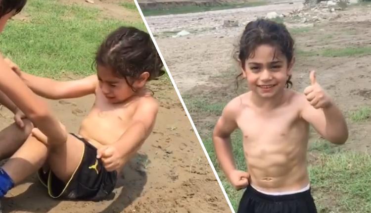 Niño entrena hasta las lágrimas para ser como Critiano Ronaldo