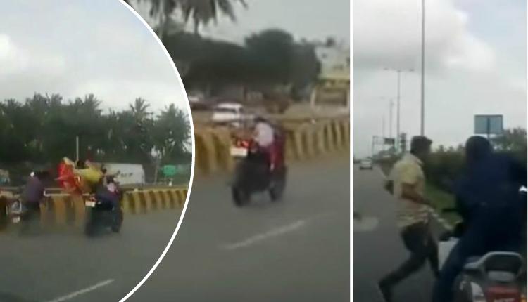 Dos motociclistas chocaron y niña de cinco años sale ilesa