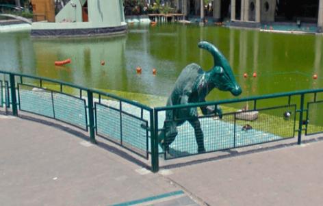 ¿Google Maps captó un dinosaurio en parque de Lima?