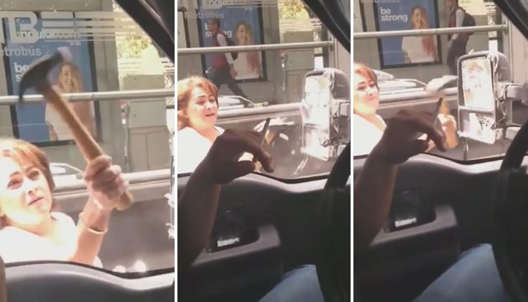 Chocan el auto de una mujer, pero ella decide 'vengarse' con un martillo