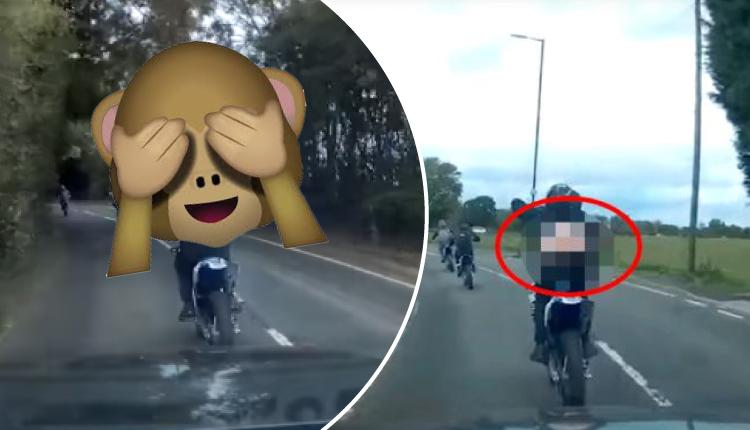 Le tocó claxón a motociclista, pero este tuvo curiosa reacción que hizo reír e indignó a la vez