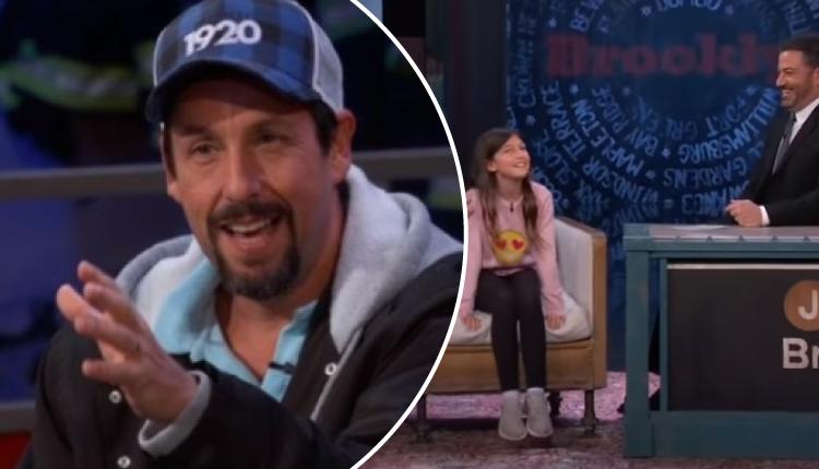 Adam Sandler presenta a su hija y ella hace graciosa imitación de su padre en programa en vivo