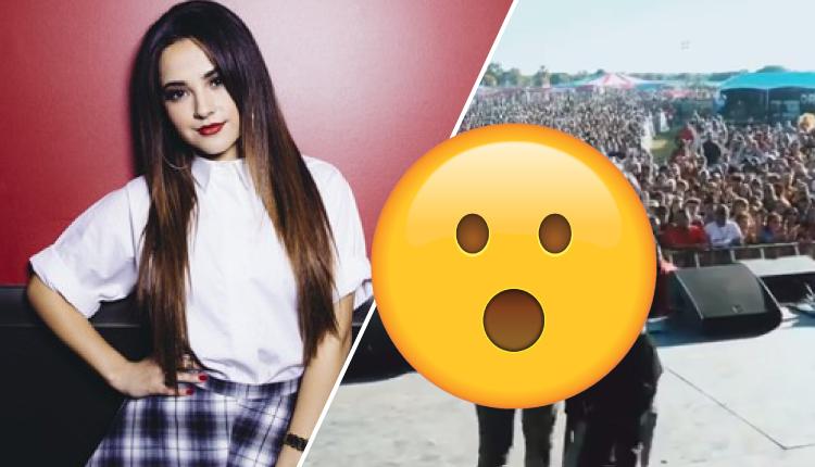 Becky G pasa incómodo momento en pleno concierto por culpa de su hermano