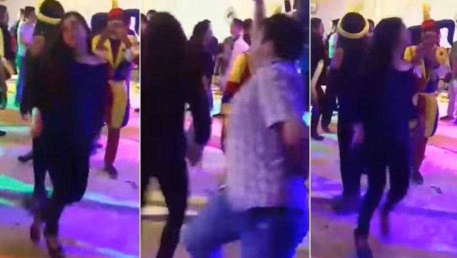 Quiso impresionar a chica bailando marinera, pero terminó haciendo el ridículo