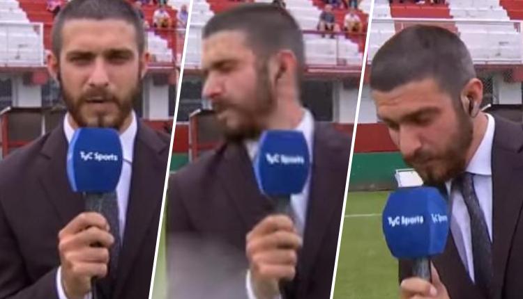 Periodista deportivo hacía transmisión en vivo, pero se llevó doloroso final