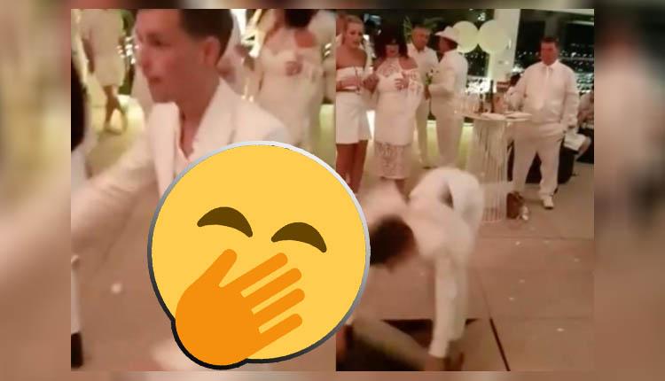 bailarin rompe el piso con paso de acrobacia
