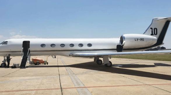 avion lujoso de lionel messi
