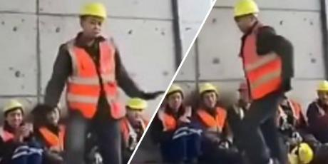 Obrero sorprende a cibernautas al bailar como Michael Jackson