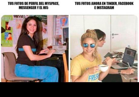 Twitter: Esta foto de Shakira tomada hace 20 años es usada para memes
