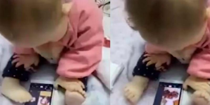 Madre descubre la manera extraña en que su hija juega con su celular