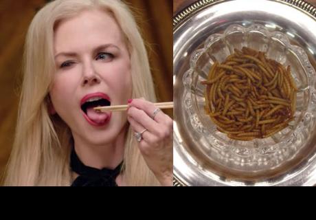 Nicole Kidman sorprende al mundo devorando insectos