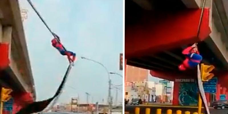 El 'Spiderman' peruano sorprende al treparse por las calles de Lima