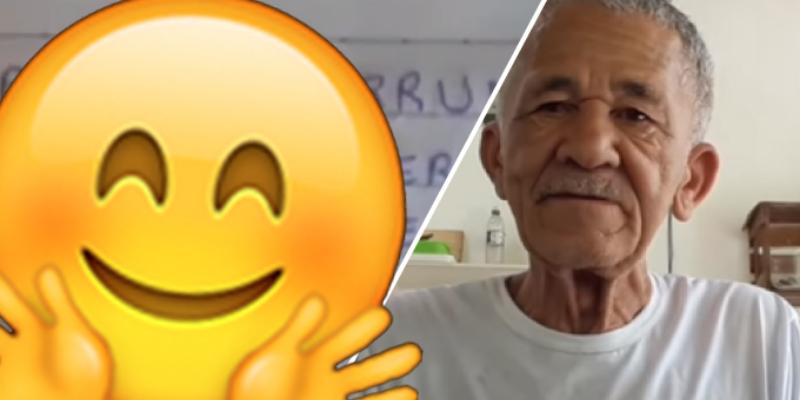 Abuelito emociona a sus seguidores con peculiar saludo en su canal de YouTube