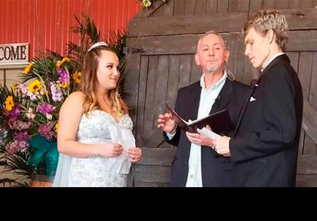 Le quedaban pocas semanas de vida y su último deseo era casarse