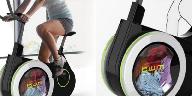 Crean bicicleta que te permite lavar ropa y al mismo tiempo ejercitar tu cuerpo