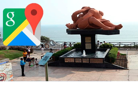 Google Maps: Hicieron zoom en 'Parque del Amor' de Miraflores y vieron triste escena