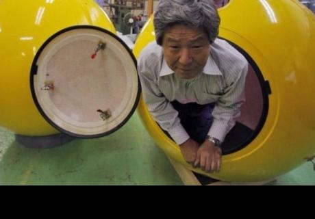 En Japón inventan cápsula para sobrevivir a un tsunami