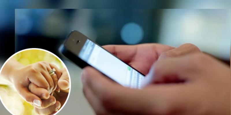 Hombre le envía varios mensajes a una mujer desconocida y terminó casándose con ella
