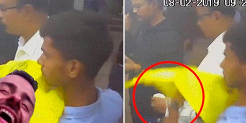 Ladrón sorprende con su habilidad para robar un iPhone a un hombre mientras compraba café