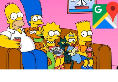 Google Maps: Los Simpson inspiró peculiar local en Argentina