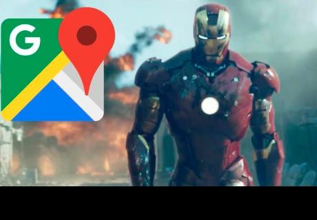 Google Maps: 'Iron Man' fue hallado en comprometedora pose