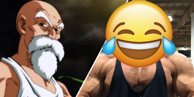 Fisiculturista parecido al 'Maestro Roshi' sorprende a usuarios de Instagram
