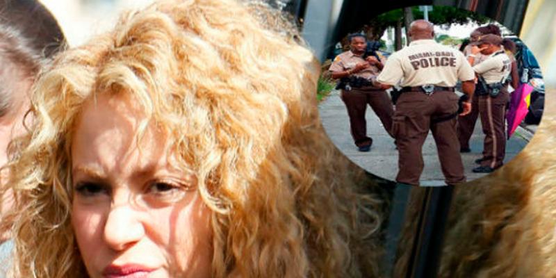 Shakira se agarra a 'golpes' con un policía delante de todos
