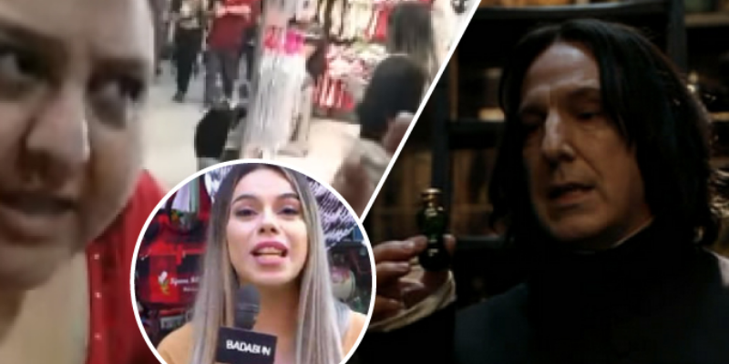 Mujer vende sus productos y hace broma usando a Harry Potter y Chica Badabun