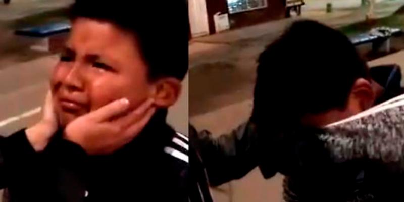 Niño se le declara a joven pero la reacción del rechazo se ha vuelto viral