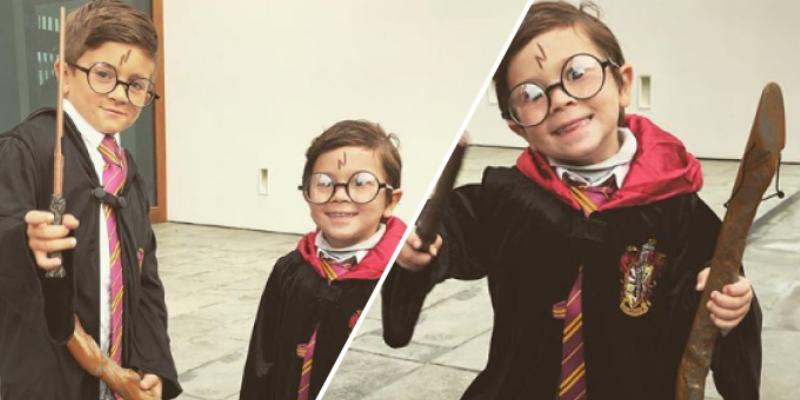 Hijos de Lionel Messi se disfrazan de Harry Potter y sorprenden a cibernautas