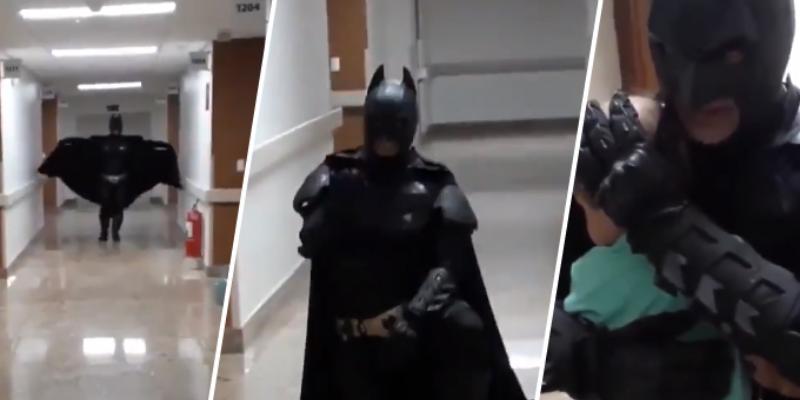 Médico se disfrazó de Batman para sorprender a su pequeño paciente