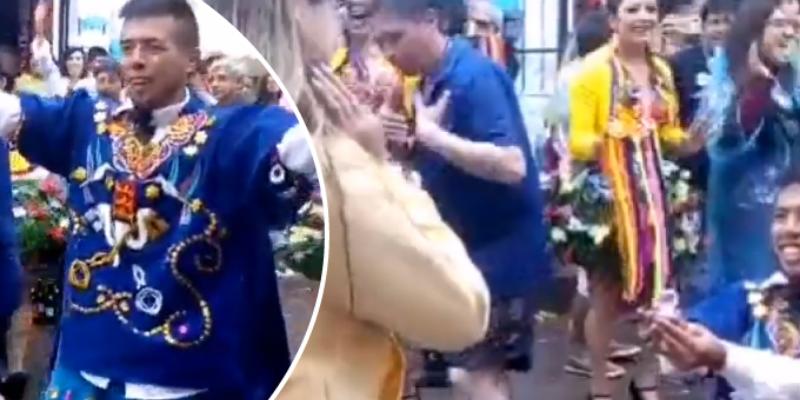 Bailarín le pidió matrimonio a su pareja en pleno Carnaval de Cajamarca en Perú