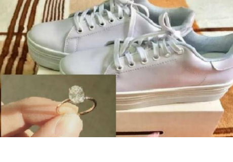 Mujer busca a dueña del anillo de compromiso que encontró en caja de zapatillas que compró