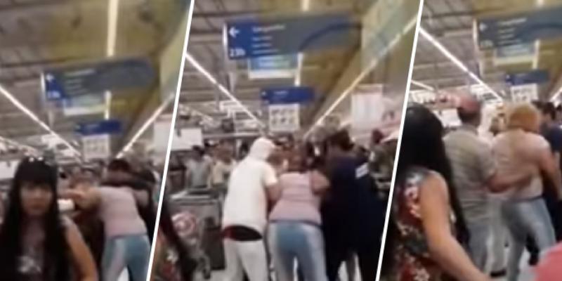 Mujeres protagonizan pelea por una bandeja de milanesa en oferta