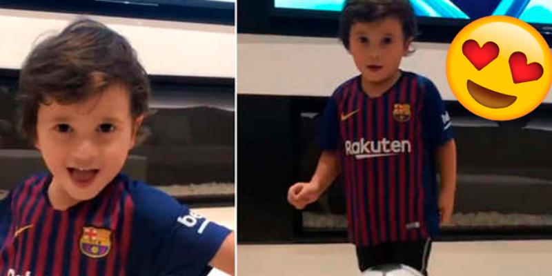Hijo de Lionel Messi le heredó la puntería y este video lo demuestra