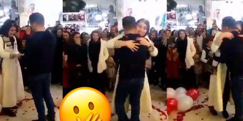 Pareja realiza hermosa pedida de matrimonio en público pero son detenidos