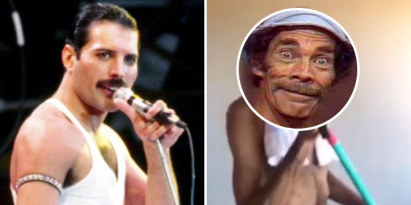Fan se disfraza de Freddie Mercury y lo comparan con Don Ramón