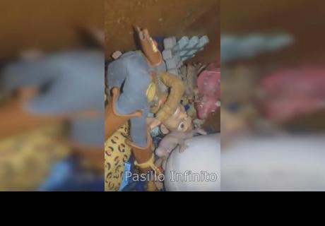 ¿Grabó preciso momento en el que muñeco habla solo?