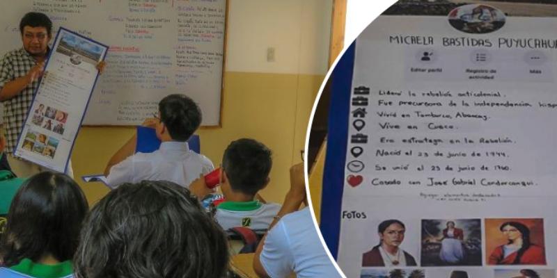 Alumnos crean perfiles de Facebook con héroes de historia del Perú y miles quedaron sorprendidos