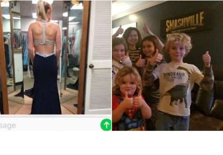 Envía foto de su vestido a un desconocido y termina salvando la vida de un niño