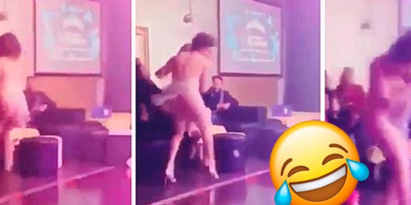 Mujer reacciona mal contra cantante que se acercó a su pareja durante un concierto