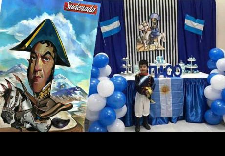 Niño pidió que su fiesta infantil sea con temática de José de San Martín