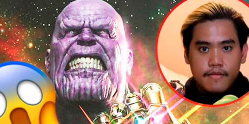 Joven recrea cosplay de Thanos y recibe muchos comentarios