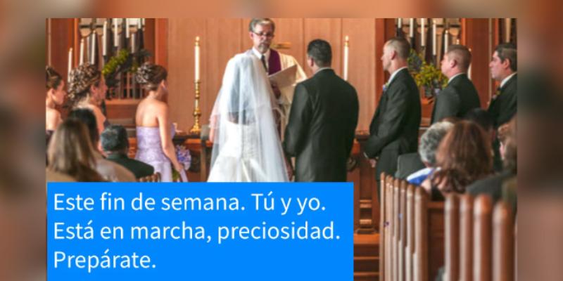 Novia leyó los mensajes de texto de su pareja infiel en plena boda y sus invitados quedaron en asombrados