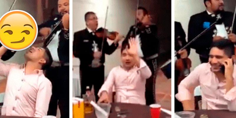 Hombre sale de fiesta y mariachis lo salvan del regaño de su esposa