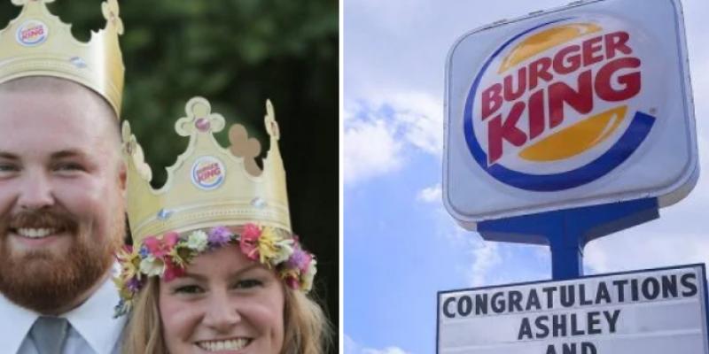 Él se apellida Burger, su novia King y Burger King les pagó la boda. No es broma
